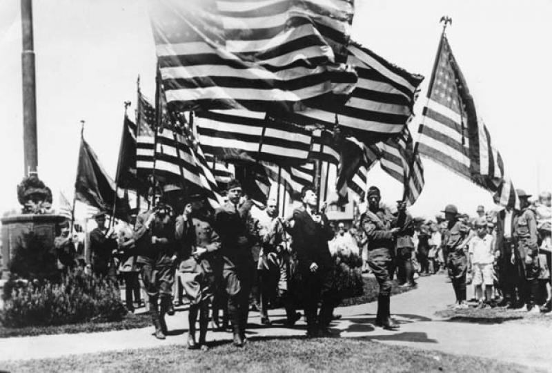 Flag Bearing Ceremony at Victory Memorial Drive Dedication