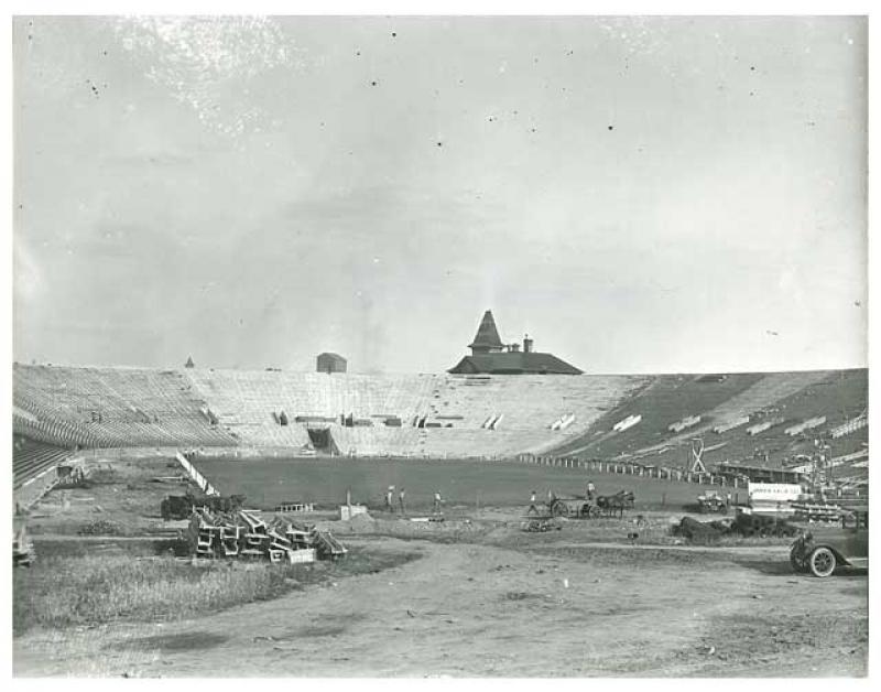 Beginning of Construction for University of Minnesota's Memorial Stadium.