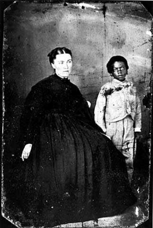 Julia B. Nelson (1842-1914) with a pupil