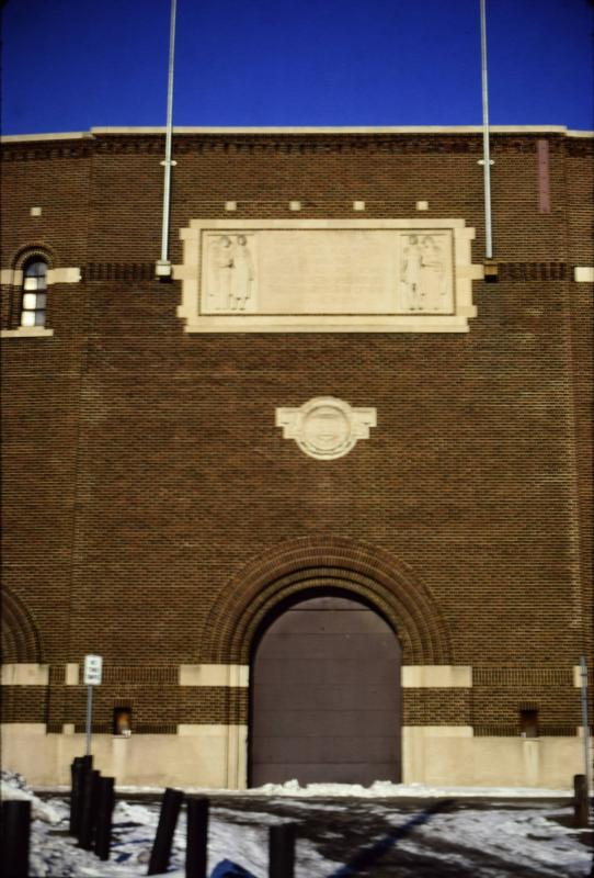 Famous Archway Entrance to Memorial Stadium.
