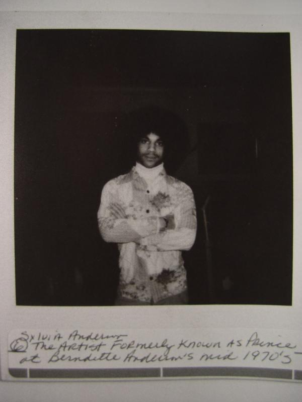 Prince inside Bernadette Anderson�™s home, 1975 or 1976.