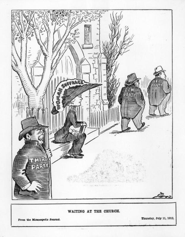 "Charles Bartholomew, ""Waiting at the Church,"" <em>Minneapolis Journal</em>, July 11, 1912"