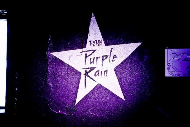 Purple Rain star, interior of First Avenue, 2018.