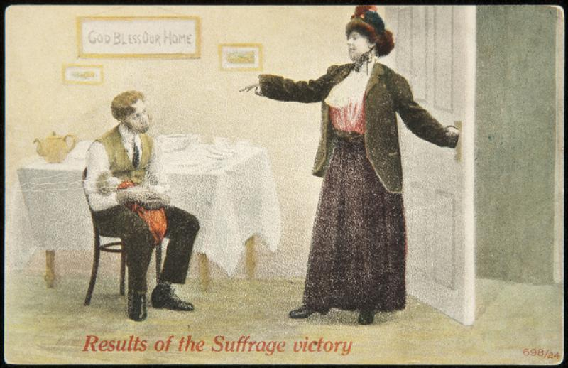 Anti-Suffrage postcard