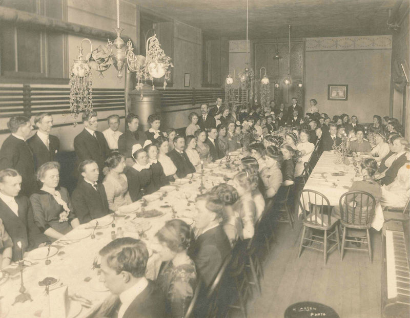 English society Valentine's Dinner at Trinity Church, 1908