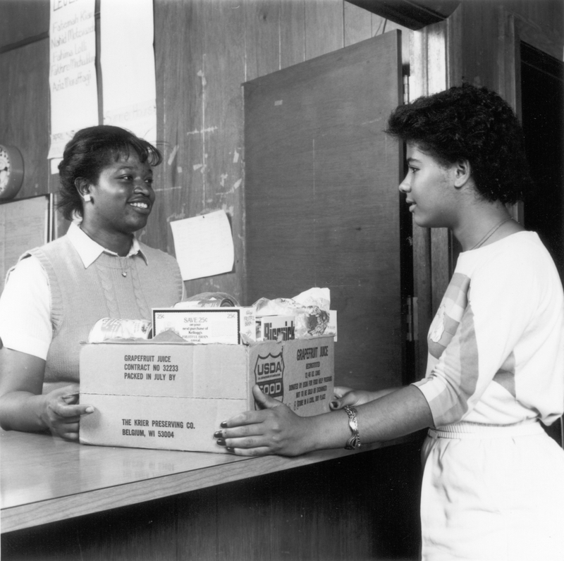 Helping Neighbors at the Currie Center, 1980s