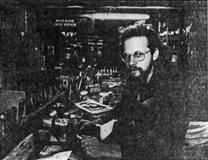 Robert Jonah Friedman, owner of Whale Leather Goods Shop, 1971