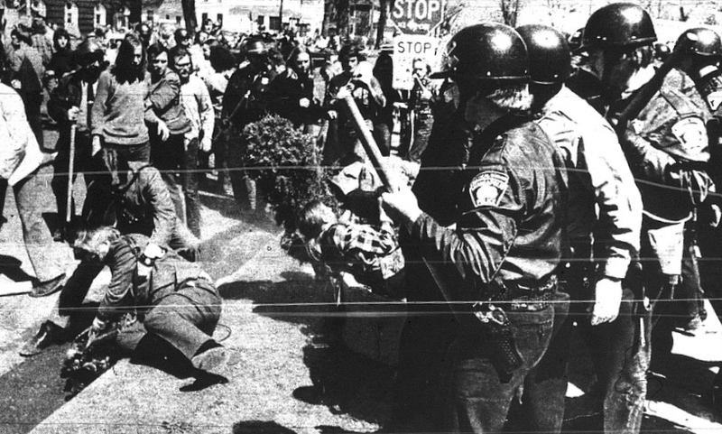 Cedar Square West dedication protest, May 9, 1972