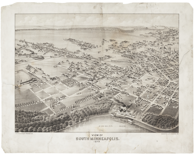 View of South Minneapolis, 1879