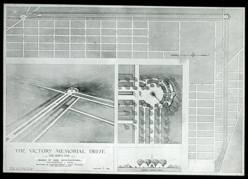 1920 Map of Victory Memorial Drive's North End