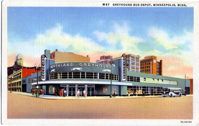 Greyhound Bus Depot, late 1930s