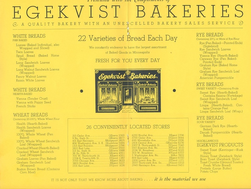 Egekvist Bakeries, 315 Cedar Avenue
