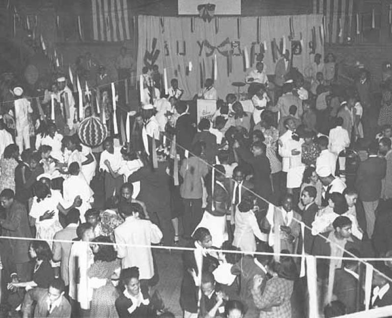 Neighborhood dance at Phyllis Wheatley House in the 1940s at 809 Aldrich Avenue North