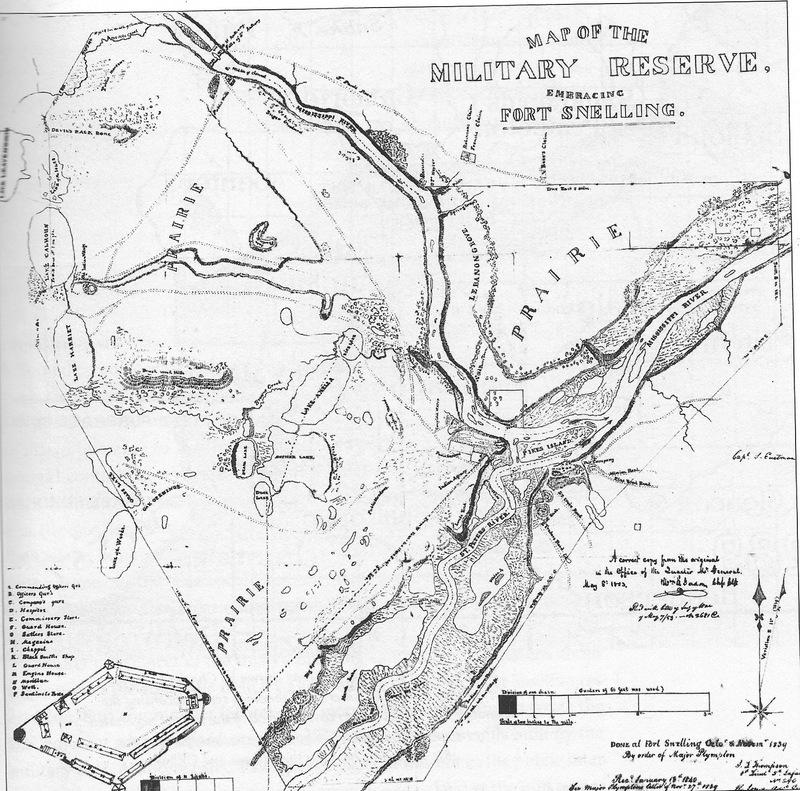 Survey of Fort Snelling, 1839 and Mni Sota Makoce
