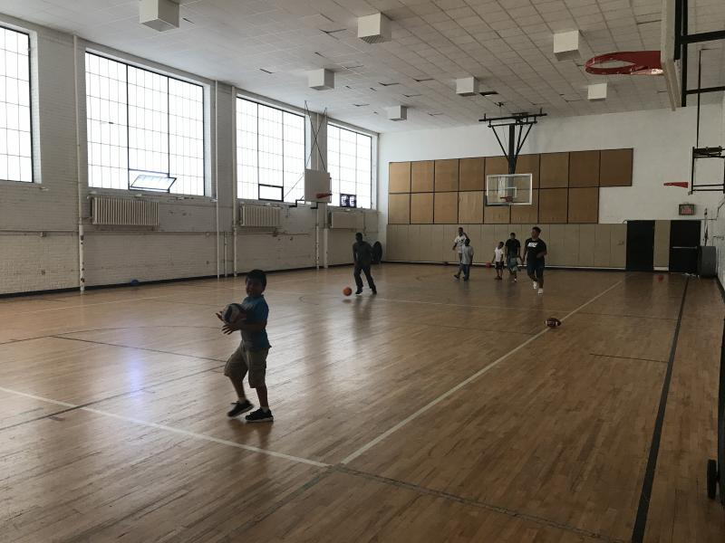 Basketball court at the current Sabathani Community Center, formerly the gym at Bryant Junior High School