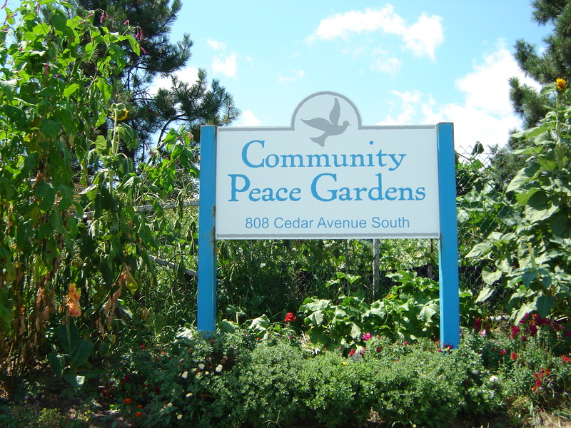 Community Peace Gardens Sign, 2012