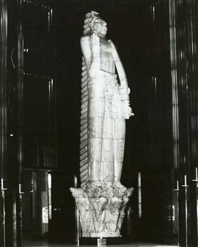 Side View of Carl Milles' God of Peace World War I Monument.