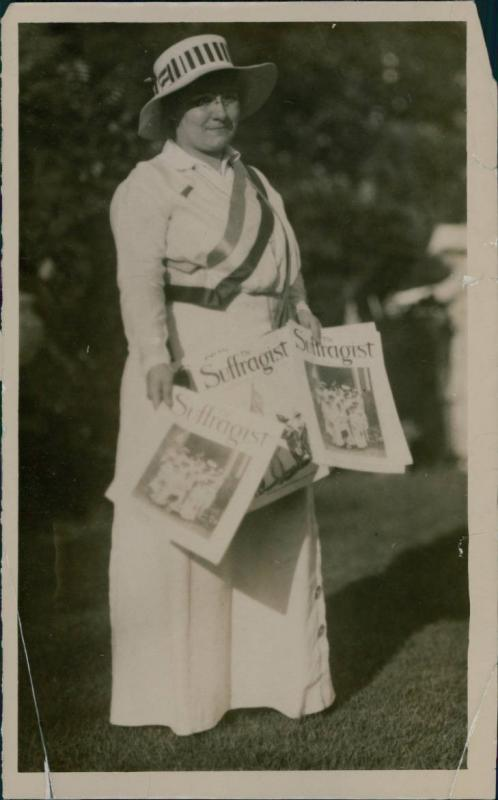 Gertrude Hunter, president of the Working Women's Suffrage Club <br /><br />