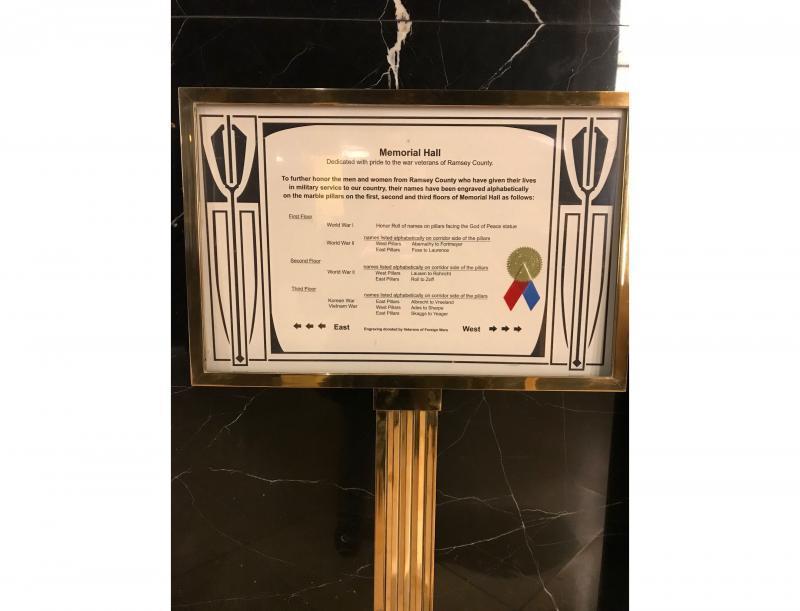 Memorial Hall Display Card