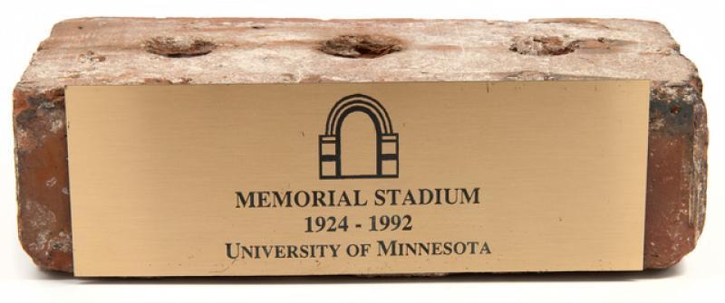 Brick Souvenir from Memorial Stadium.