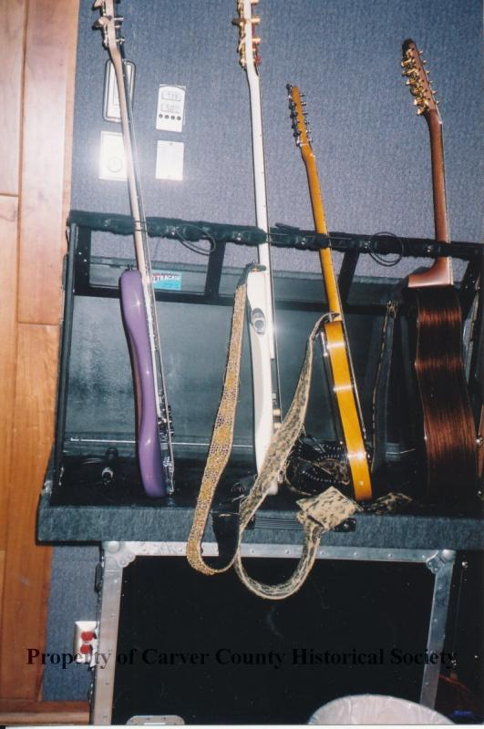 Guitars in Paisley Park recording studio, 1990s