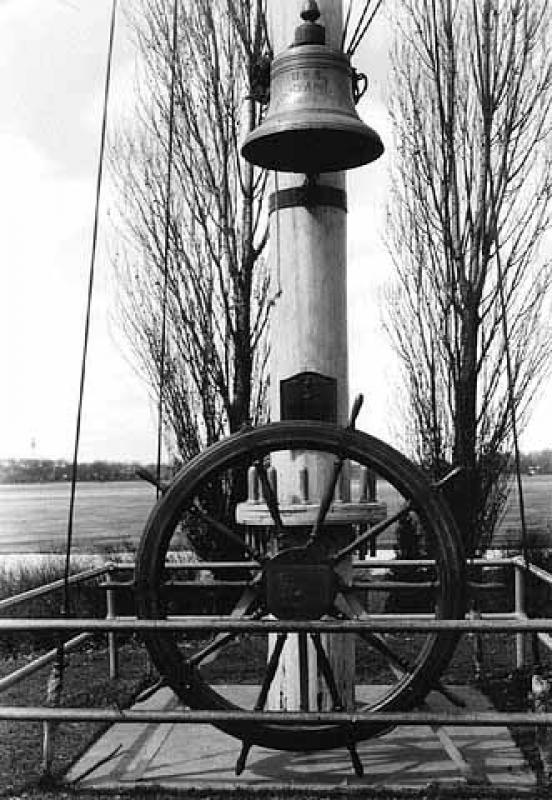 U.S.S. Minneapolis Bell and Steering Wheel