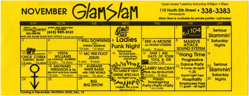 Glam Slam calendar, 1991