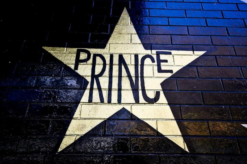 """Prince�™s """"star"""", exterior of First Avenue, 2018."""