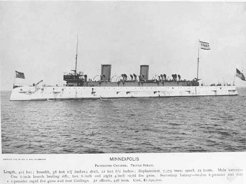 U.S.S. Minneapolis World War I-era Cruiser prior to its decommissioning
