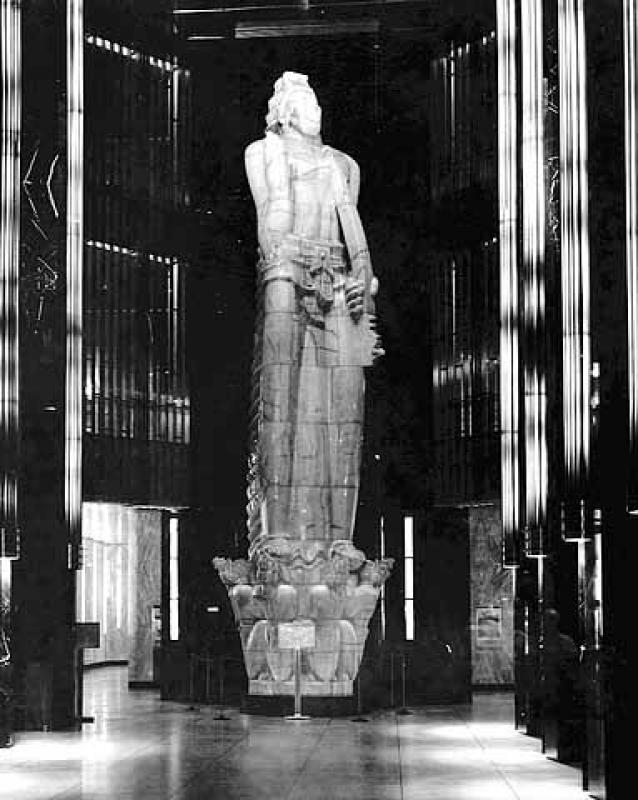 "Carl Milles' ""God of Peace"" World War I Monument (Later Re-Named ""Vision of Peace)."