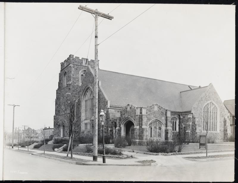 Exterior of Plymouth Congregational Church