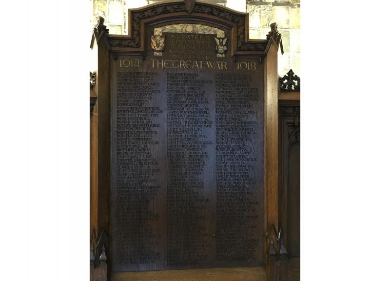 Plymouth Congregational Church World War I Memorial
