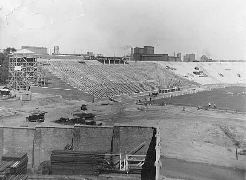 Groundbreaking for Construction of University of Minnesota's Memorial Stadium.