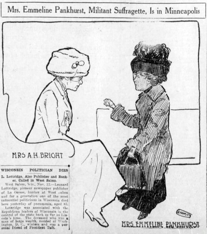 A Militant Suffragette Visits Minneapolis