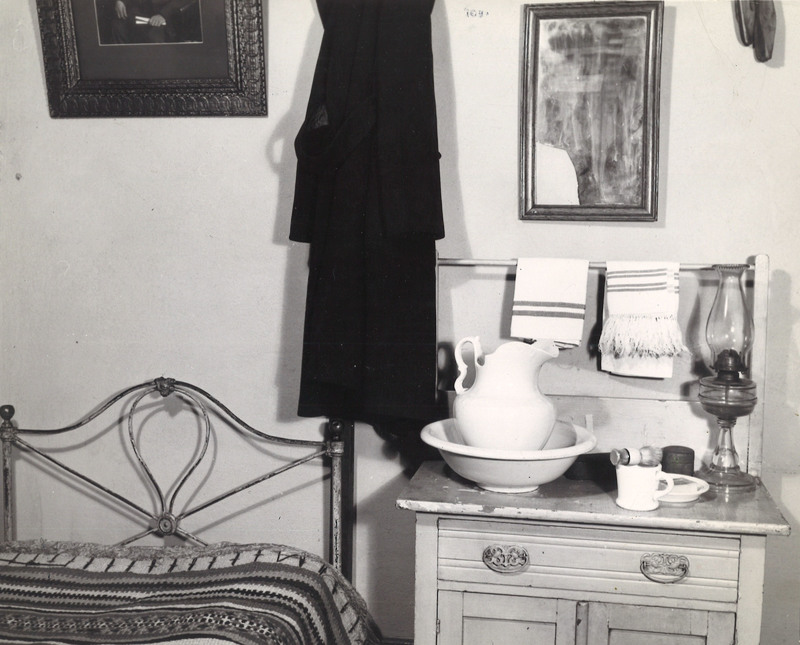 Student dorm room in Old Main, 1880s (recreated in 1930s)