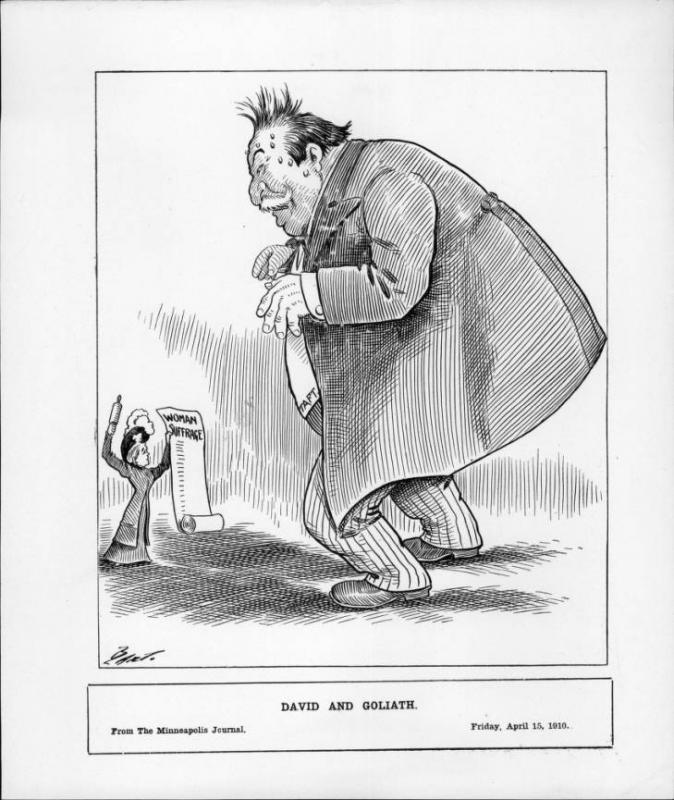 "Charles Bartholomew, ""David and Goliath,"" <em>Minneapolis Journal</em>, April 15, 1910"