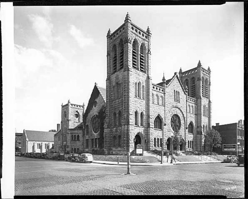 Exterior view of Westminster Presbyterian Church