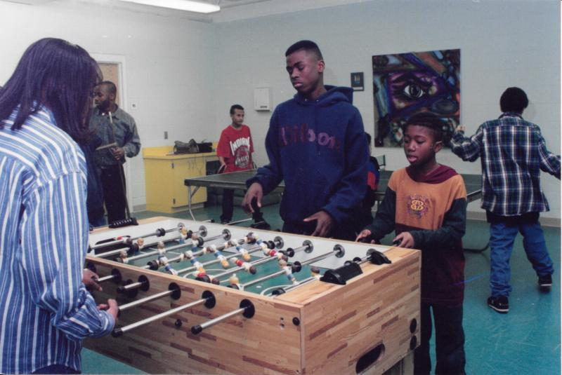 Foosball at Coyle Center, ca. 1990s