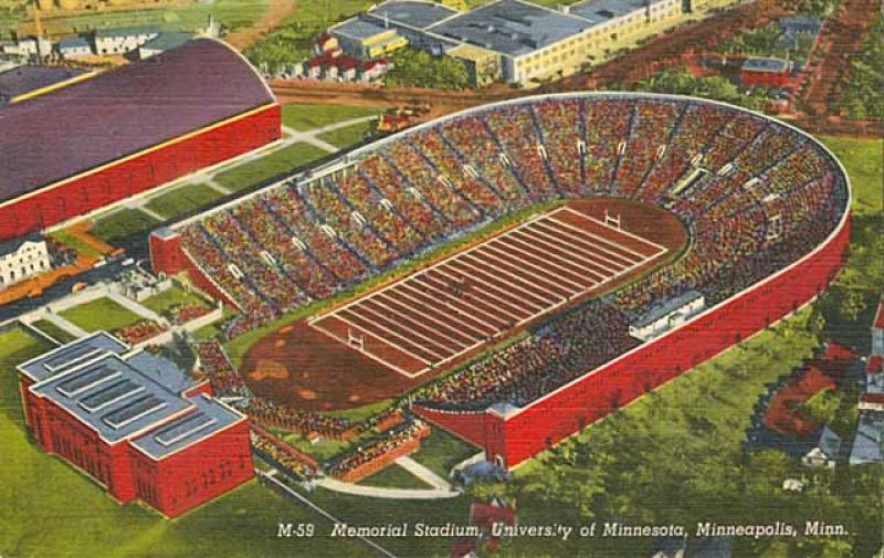 University of Minnesota's Memorial Stadium.