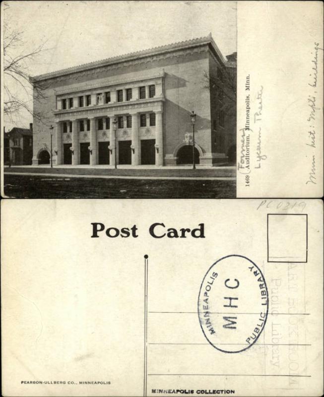 The Minneapolis Auditorium, ca. 1905