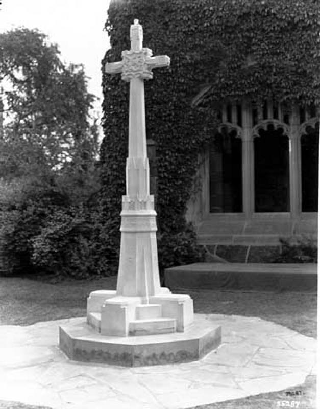 Plymouth Congregational Church Exterior Monument to World War I
