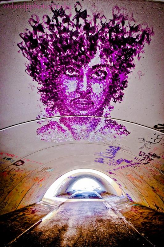 Prince-related graffiti, 2018