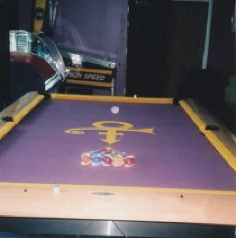 Pool table with Prince�™s symbol, 1990s