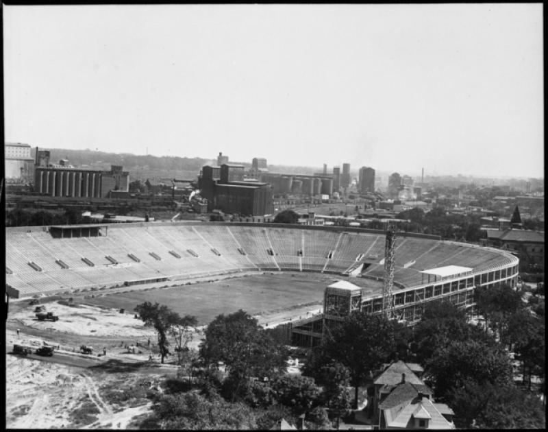 University of Minnesota's Near-Completed Memorial Stadium.